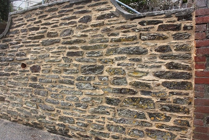 Lime Pointing Wall Fowey Cornwall