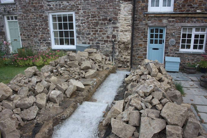 Preparing For Stone Wall Construction Cornwall