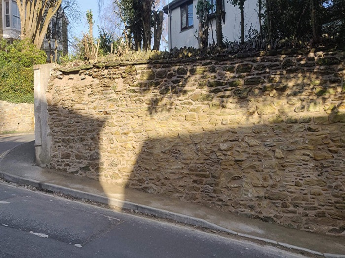 Boundary Wall Repair Truro 1