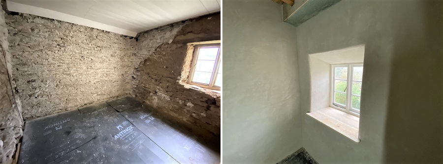 Insulating Lime Render Cornwall