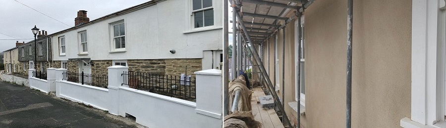 Lime Rendering Cob and Mineral Paint System Truro