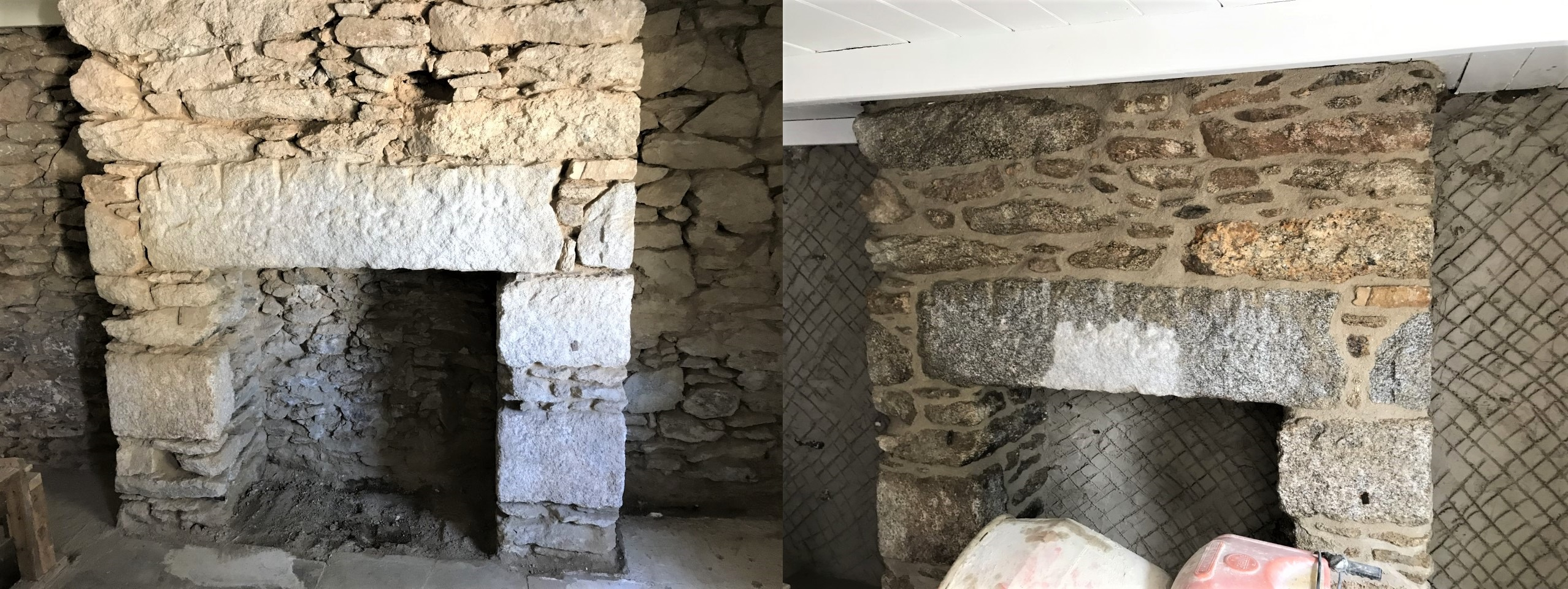 Lime Pointing Chimney Breast Cornwall