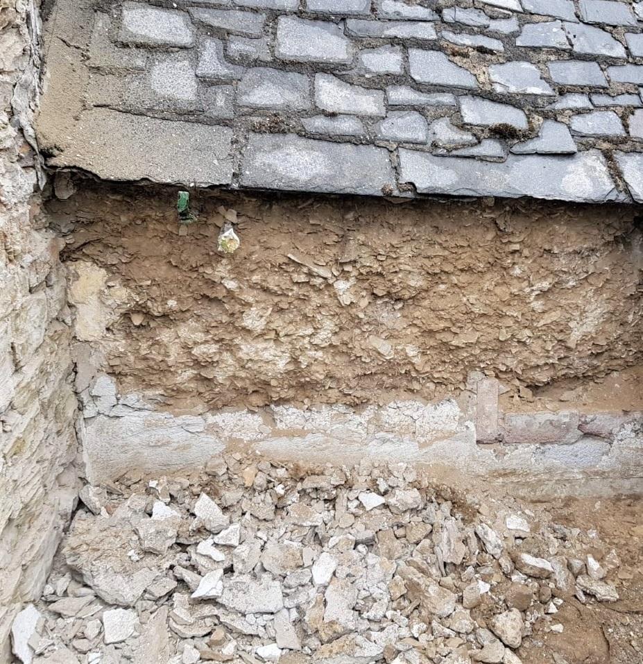Cob Wall Declad Cornwall