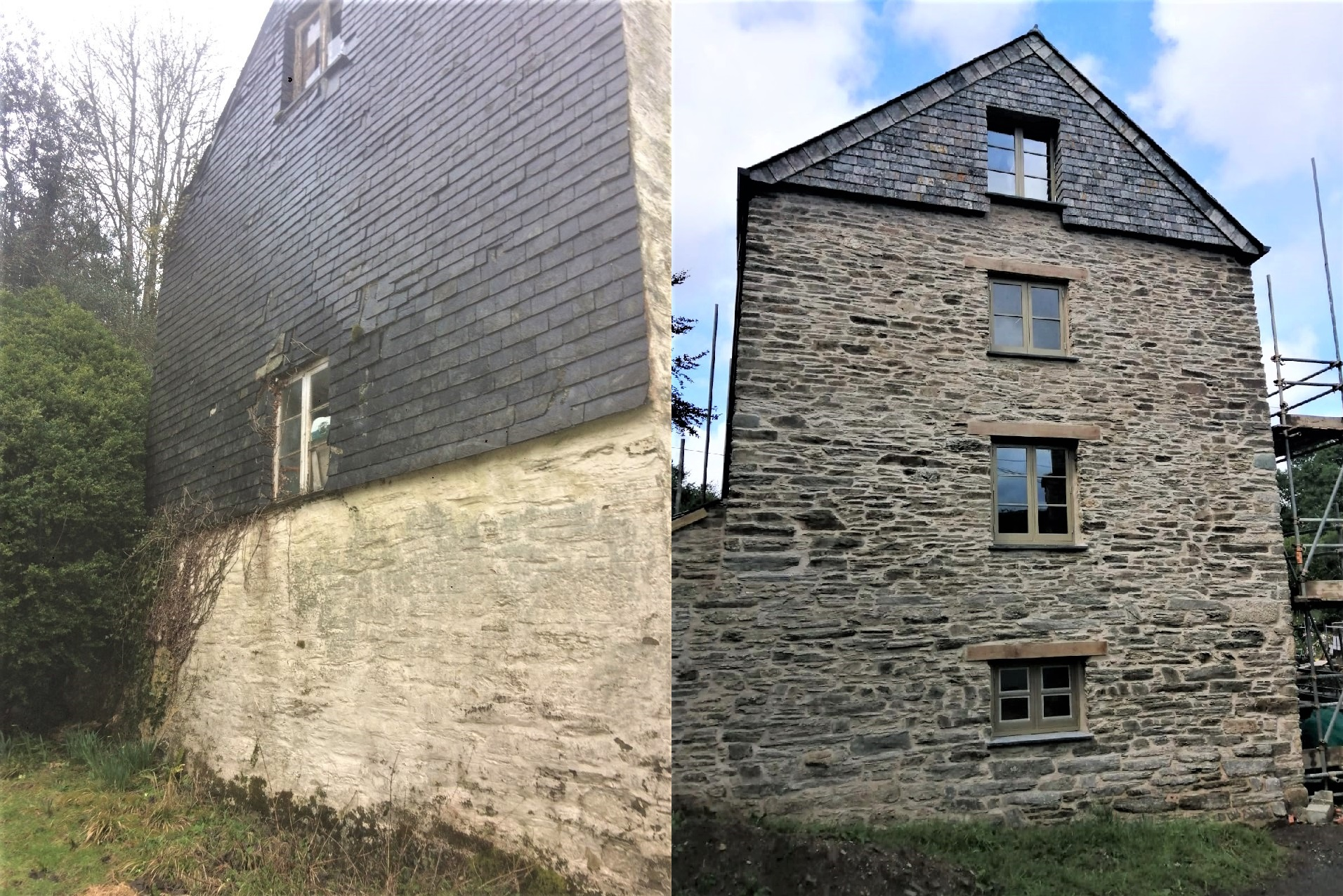 Historic Grade II Listed Mill Restoration Cornwall