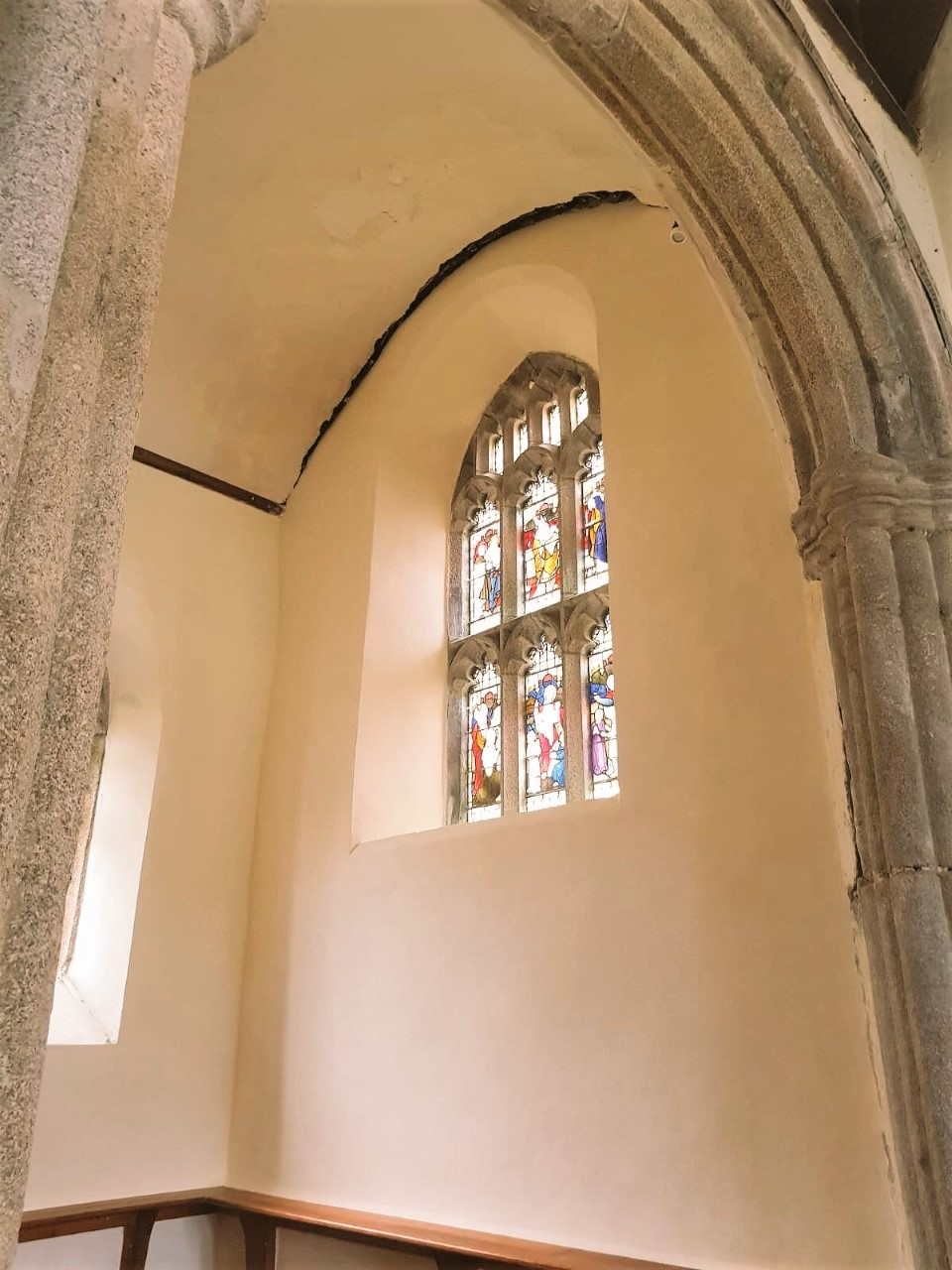 Lime Plastering Church Wall Cornwall