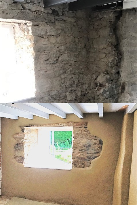 Cement Render Removal and Lime Plastering Cornwall