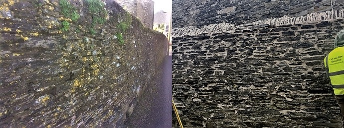 Lime Pointing Boundary Wall Wadebridge
