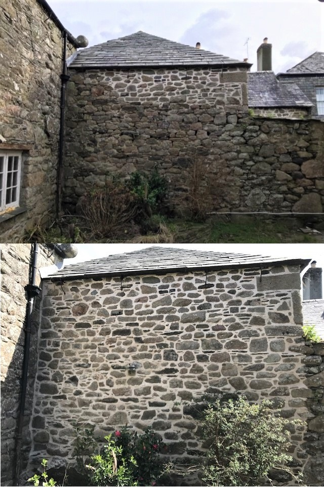 Lime Pointing Stone Wall Cornwall