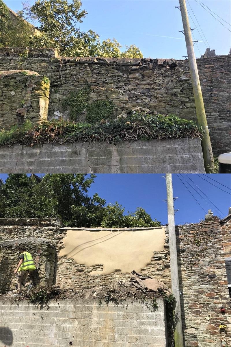 Boundary Wall Repair Cornwall